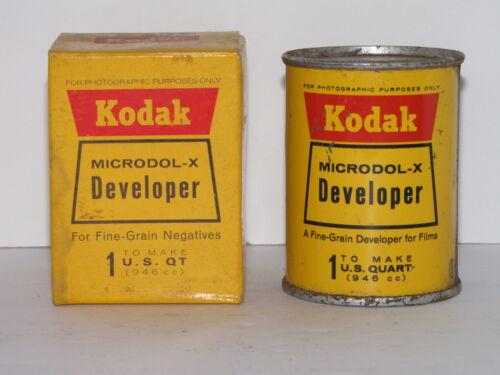 KODAK MICRODOL-X DEVELOPER POWDER FOR FINE GRADE NEGATIVES & FILM MAKES 1 QUART