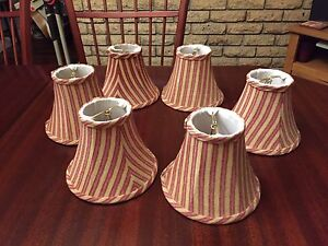 Set of six Chandelier lamp shades