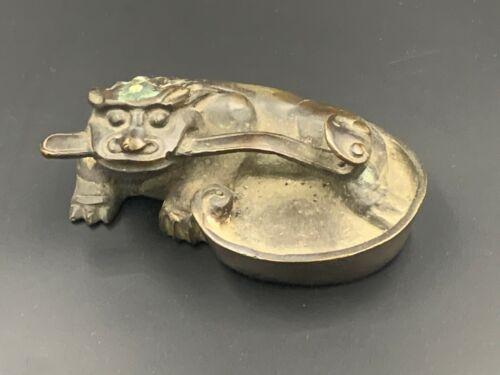 Antique Chinese Bronze Brush Treat