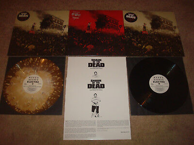 MONDO Shaun of the Dead SET of 3 Vinyl LP 12 inch Record LOT Variant Red Ale 180