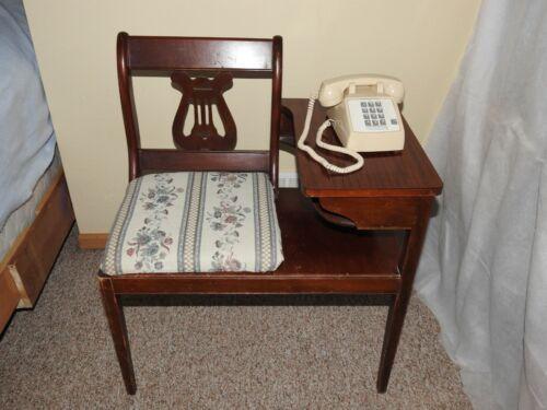 VINTAGE Telephone Gossip Bench