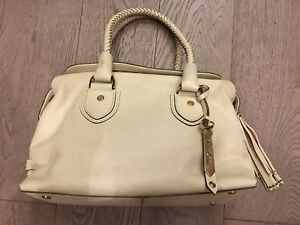 Cole Haan beige leather bag