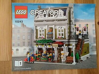 Lego Creator Expert Parisian Restaurant (10243)- 100% Complete with Instructions