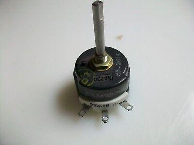 Dejur 15 Ohm 25 Watt Rheostat 1 12 Shaft