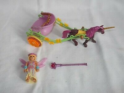 Playmobil Magical Fairy Cart with Unicorn - set 9136 VGC