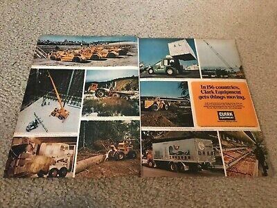 1972 Clark Equipment Print Ad Michigan Scraper Lima Crane A-w Ranger Log Skidder