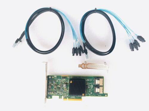 LSI SAS 9207-8i SATA/SAS 6Gb/s PCI-E 3.0 IT Mode + 2*SFF-8087 cables SATA