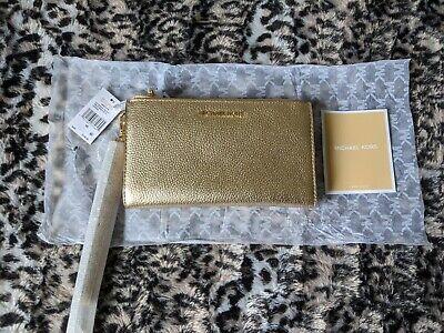 GENUINE MICHAEL KORS SMART PHONE WRISTLET / PURSE - GOLD RRP $108.
