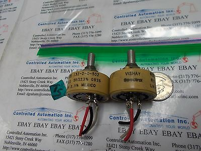 Vishay 132-2-0-502 Potentiometer Lot Of 2