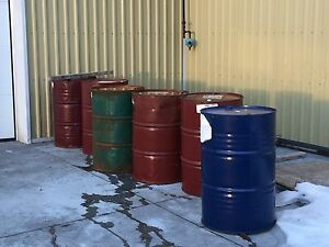 Empty oil drums 45ga