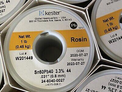 Kester Solder 32117 24-6040-0027 6040 Stand 0.031 Diameter Rosin 44
