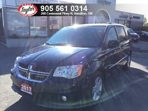 2017 Dodge Grand Caravan Crew Plus w/Leather Heated Seats, DVD,