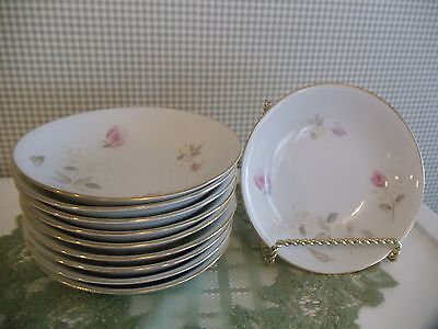 Abalone China Made in Japan FLAMINGO ROSE Berry/Dessert BOWLS 5 1/2