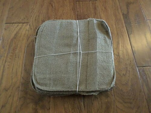 NEW 6 PACK MILITARY ISSUE POLYESTER MICROFIBER WASHCLOTH COYOTE BROWN