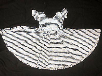 NEW Dot Dot Smile Twirly EMPIRE Blue White Waves Dress Girls