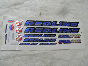 BLUE-REDLINE-DECALS-RL-440-bmx-cruiser-freestyle-VINTAGE-NOS