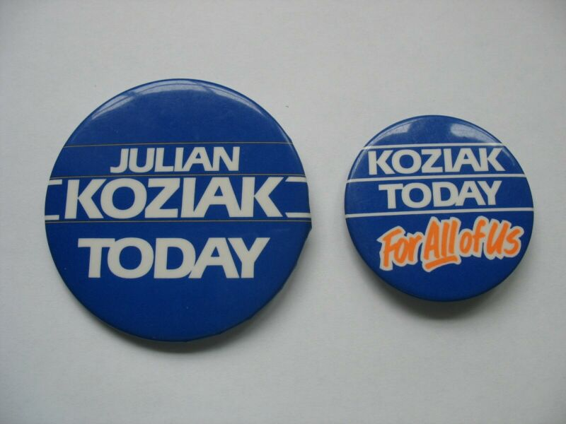 CANADIAN POLITICAL PINBACKS - PROGRESSIVE CONSERVATIVES - KOZIAK - Lot of 2