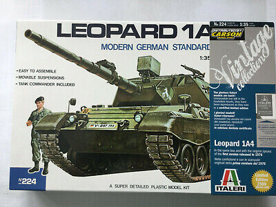Italeri 224, 1:35 Bausatz Panzer Leopard 1A4, Neu, OVP, TOP