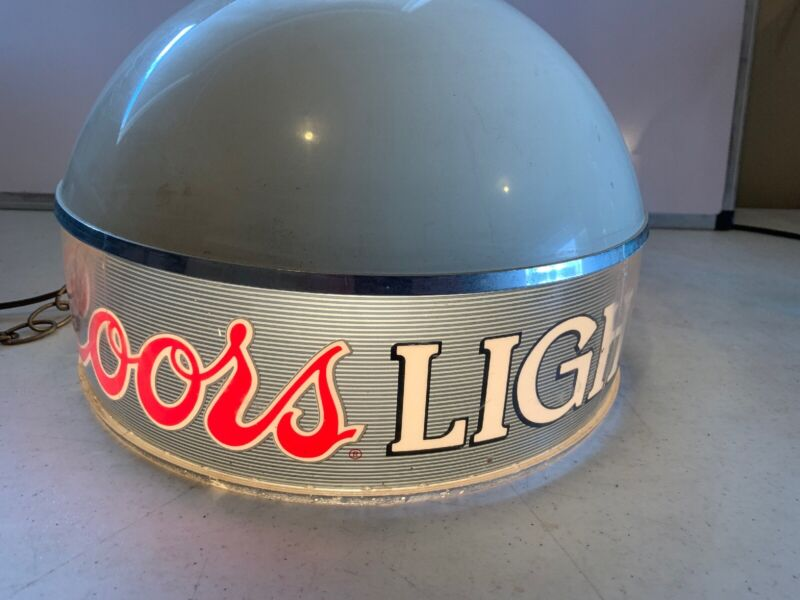 1980 Adolph Coors Beer Pool Table Light