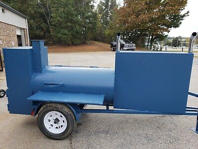 Powder Coated Pick Colors Bbq Smoker Grill Trailer W Lockable Storage Food Truck