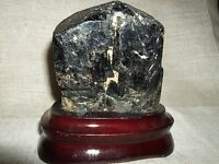 Tormalina Nera Grezza Base Legno Brasile Protezione Negativita' Minerale Gr. 885 -  - ebay.it