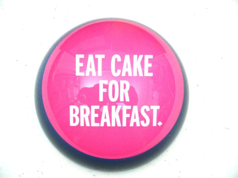 NIB Lenox Kate Spade Paperweight Eat Cake Funny Birthday Woman Gift Box NWT NEW