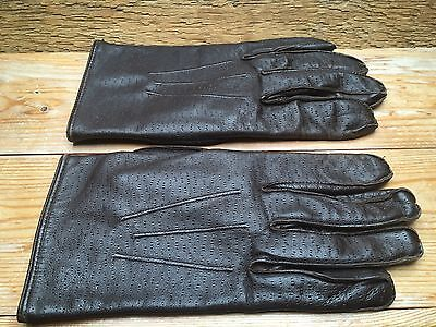 Vintage Ladies Brown Leather Gloves/Retro/Fitted/60's/70's?/Smart/Driving