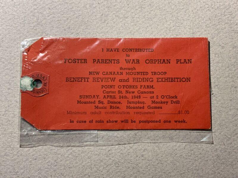 Foster Parents War Orphan Plan Point O