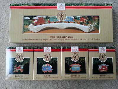 VTG Hallmark Keepsake Ornament 5 piece Train Trestle 1991 Christmas COMPLETE set