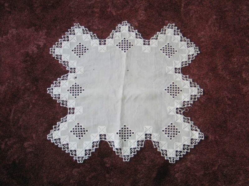 Exquisite Antique Hardanger TableCloth~Centercloth -Doily !!!