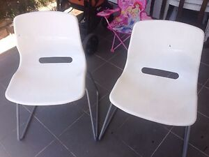 2 white IKEA Snille office chairs, very good conditions North Strathfield Canada Bay Area Preview