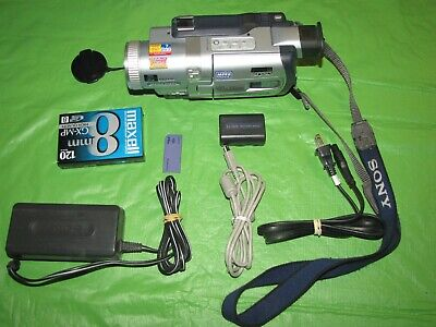 Sony DCR-TRV730 Digital 8 Camcorder - Record Transfer Play Hi8 Video 8MM Tapes @