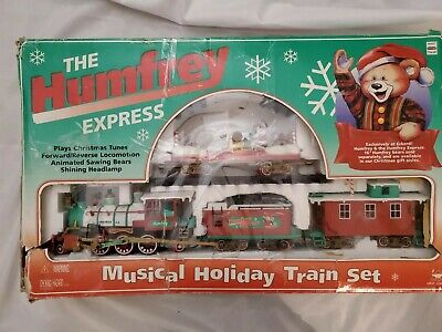 1995 New Bright Train Set Large Musical Animated Christmas The Humfrey Express
