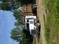 Fire wood, log loads.