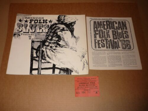 Big Joe Turner/Otis Rush/Junior Wells 1966 Tour Programme + Insert + Ticket