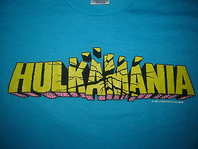 VINTAGE HULK HOGAN T-SHIRT HULKAMANIA 86 NEVER WORN NEVER WASHED  WWE WWF