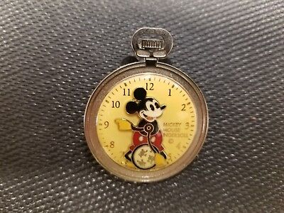 *SUPER RARE MICKEY MOUSE POCKET WATCH STOP DISNEY PIN INGERSOLL* unique apple