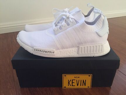 ADIDAS NMD JAPAN TRIPLE WHITE - SIZE US11.5