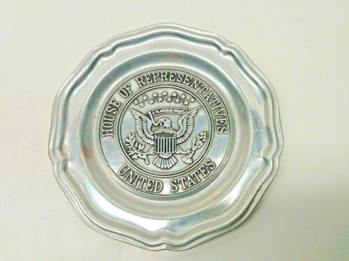 Vintage Wilton Pewter House of Representatives Aluminum 7 inch Plate Made in USA