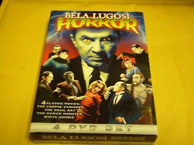 Bela Lugosi 4 Film Horror Set  (4 DVD Set, 2007)  Halloween  White Zombie](Halloween 07 Film)