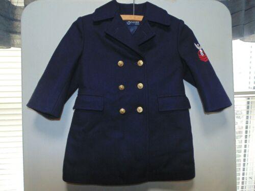 Vintage Wool Navy Pea Coat ~ Size 4 ~ Sailor Navy ~ Styled by Soman N.Y.  Unisex