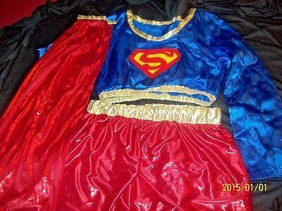 Teen Supergirl Costume (Supergirl Halloween Costume 3pc-Shiny-Teen-Women-)