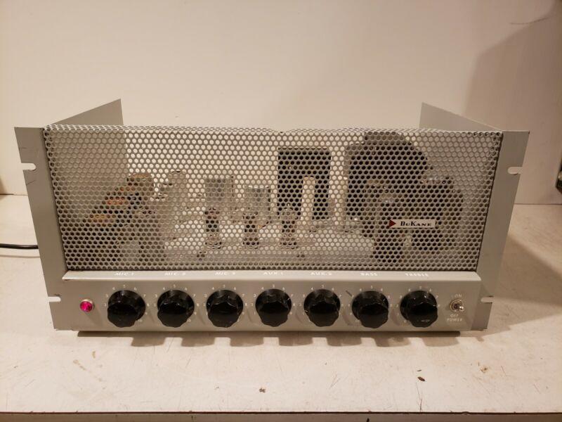 Dukane 1e460a Tube Amplifier Mixer Mic Preamp Eq Rack