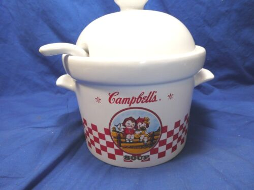 2000 Campbell Soup Tureen With Lid and Ladle Houston Harvest