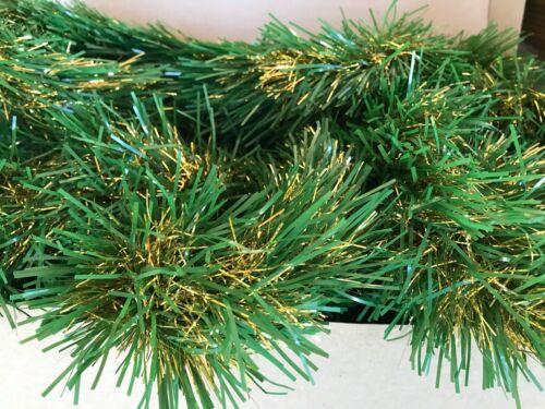 Vtg Christmas Garland Tinsel Heavy Thick Full - 2 Strands - 25