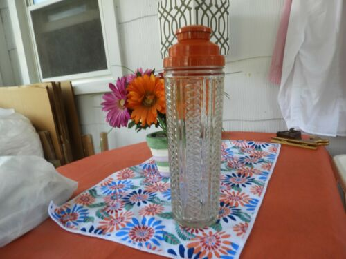 Vtg Medco Dial A Drink Recipe 550 Cocktail Shaker Barware Rare Orange Lid