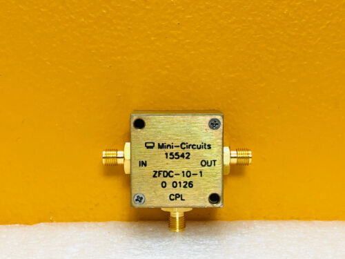 Mini-Circuits ZFDC-10-1 1 to 500 MHz SMA (F) Coaxial Directional Coupler Tested!