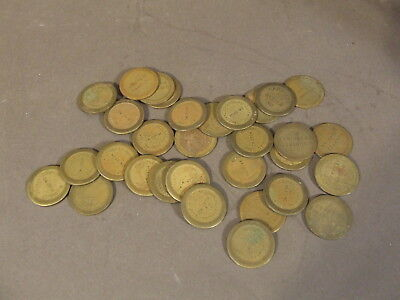 LOT OF 30 COURTSEY PARKING TOKENS McDONELL DOUGLAS, CARD KEY SYSTEMS