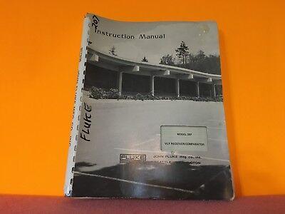 Fluke Model 207 Vlf Receiver Comparator Instruction Manual