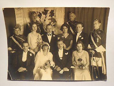 Hochzeit - Studenten in Couleur - Fahne mit Wappen Eule Hermannsdenkmal / Foto